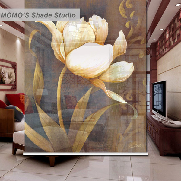MOMO Blackout Rhyme Window Curtains Roller Shades Blinds Thermal Insulated Fabric Custom Size, Alice 411