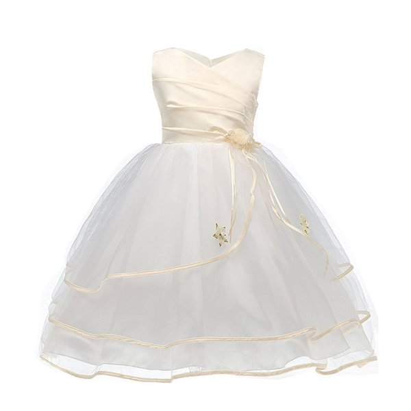 Summer Flower Girl Dress For Kids Girls Wedding Christening Gown Fancy Tulle Children Graduation Dresses For Teen Girl 10 Year