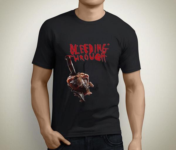 Bleeding Through Metalcore Band Camiseta de manga corta para hombre, negro Talla S a 3XL Tops básicos Estampado de camiseta Hombre, corto