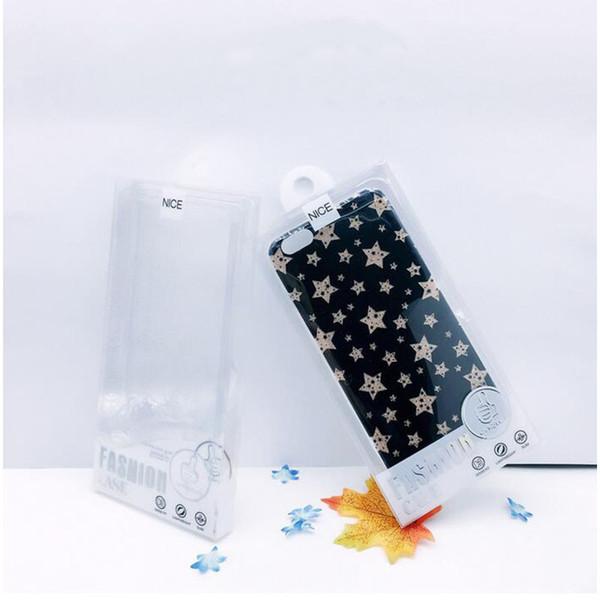 Evrensel Büyük Şeffaf Beyaz / Siyah / Sarı Plastik PVC Perakende Paketi Kutusu Iphone XS Max 8 7 IÇIN İç Tepsi Ile Kılıf Kapak