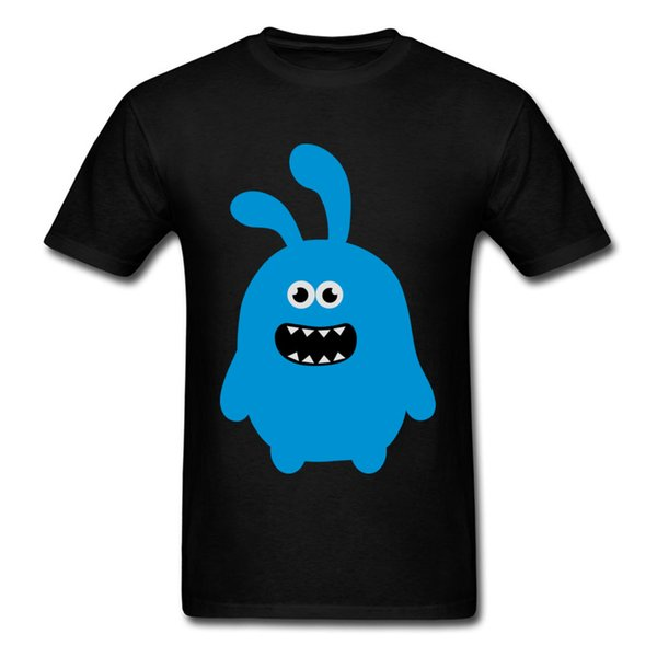 Funny Cute Crazy Bunny Tshirt Blue Picture Tshirt Student Men Men Short Sleeve Pullover T Shirt Cotton Fashion Cartoon Tops