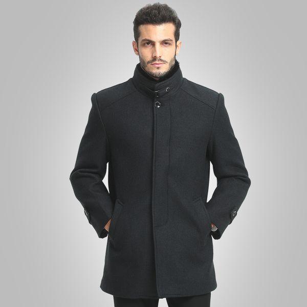 2018 Men's Woolen Coats Business Casual Overcoats Homme men Autumn Winter Clothing mens wool dress Plus Size M-4XL