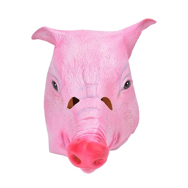 Animal Halloween Costume Prop Toys Adlut Pig Head Mask Headgear For Party Creepy Adult Pig Head Latex Rubber Mask