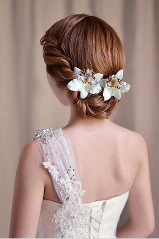 Pretty Wedding Bridal Hair Accessories Yarn Flowers Bridal Head Pieces Womens Party Head Pieces Events Hair Decoration Accessories