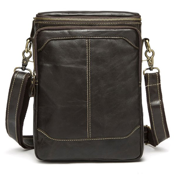 BULLCAPTAIN New Genuine Leather Men Fashion Single Shoulder Bag Casual Business Cross Body Messenger Bags