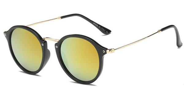 2018 Fashion Brand Sunglasses Men Women gatsby Retro Vintage eyewear shades round frame Designer Sun glasses with brown cases and box 2447