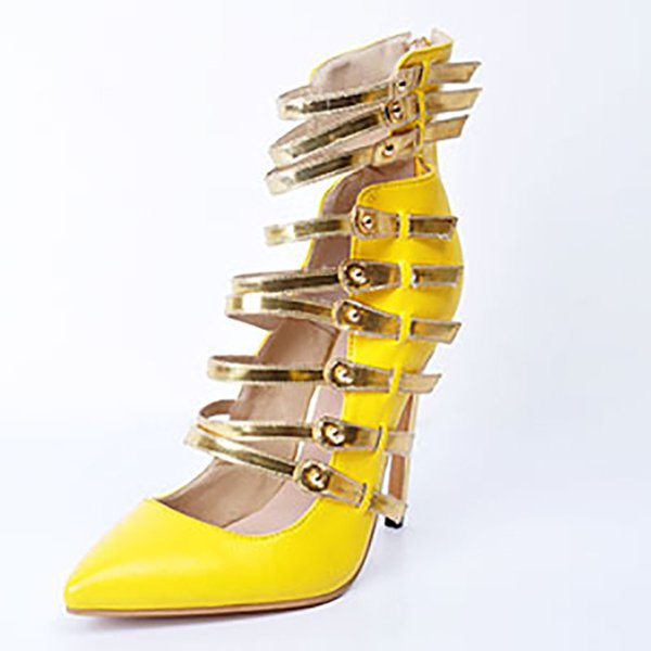 2018 fashion Summer High Heels 11cm Sexy Party Women's Shoes plus size Factory Outlet Real Picture