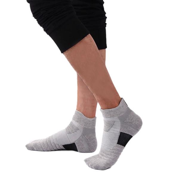 1 paio uomo sportivo in poliestere fibra ciclismo calzini ciabatte traspirante sudore-assorbente antiscivolo elastico compressione calzino maschile