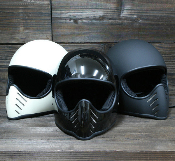top popular Motorcycle helmet FPR full Face Vintage for dirt bike Cafe racer casco cooldrop shipping custom motocross cycling capacete chopper cruiser 2021