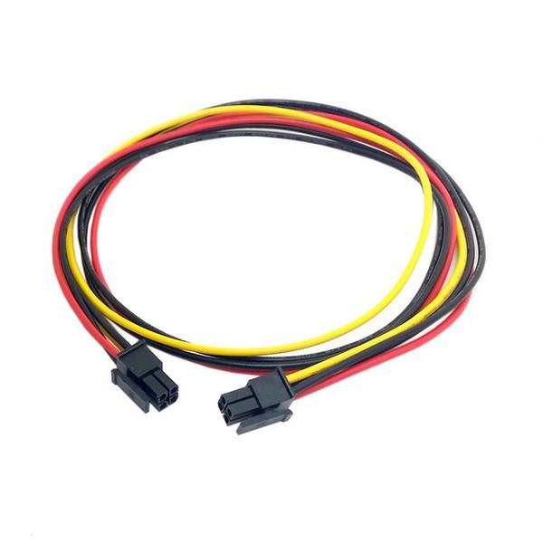 Großhandel 100 teile / los Motherboard ITPS Mini ATX 4Pin Stecker auf Stecker Verlängerungskabel 60 cm 20AWG für Auto PC DIY