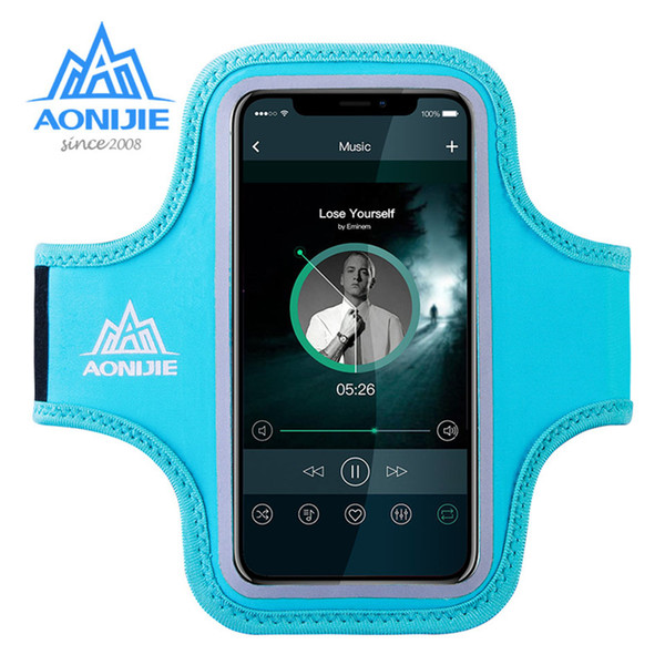 AONIJIE Water Resistant Cell Mobile Phone Sports Running Armband Arm Bag Jogging Case Holder Cover For Fitness Gym Workout