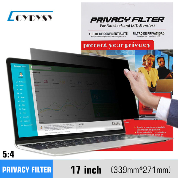 best selling 17 inch Anti-Glare Spy Privacy Screens Protector Film for 5:4 Laptop Notebook LCD Monitor 339mm*271mm