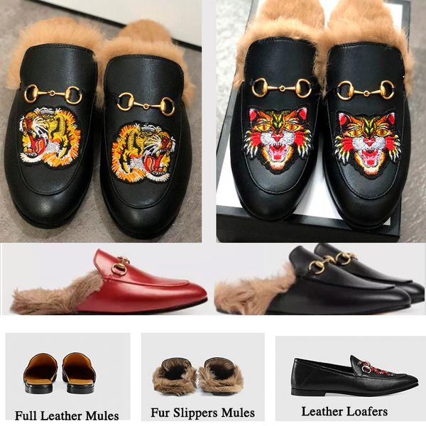 Марка Muller Дизайнер меховые тапочки женщин из натуральной кожи мулы обувь плоские
