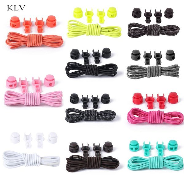 No Tie Lazy Shoe Laces Elastic Lock System Runners Athletes Shoe Strings Quick