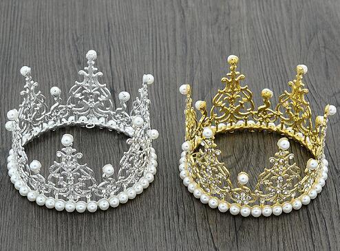 Environmental protection headwear children's birthday, children, whole circle, crown, bridal ornament, wedding highlight pearl cake baking.