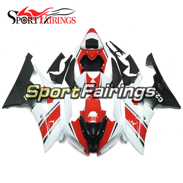 """""""Z2W """"Red White Full Motorcycles Fairing Kit For Yamaha YZF600 R6 YZF-R6 2008 - 2016 11 12 13 14 Injection ABS Plastic Motorcycle Bodywork"""