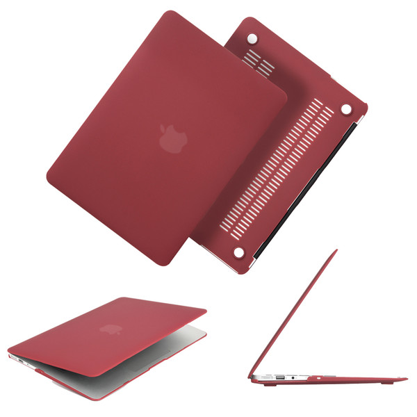 Newest Wine Red Color Matte Case For Macbook Air Pro Retina 11 12 13 13.3