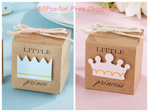(150pcs/lot) Little Prince favor box For baby shower Party decoration gift box and baby birthday candy box Free Shipping