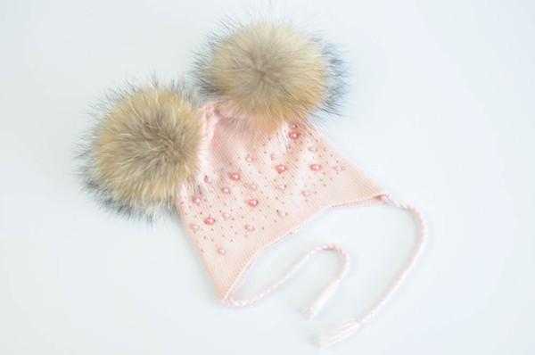 Pink natural fur