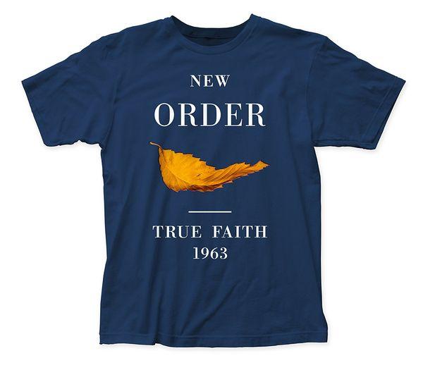 Men Tee Shirt Tops Short Sleeve Cotton Fitness T-Shirts 2018 ew Order True Faith fitted jersey tee
