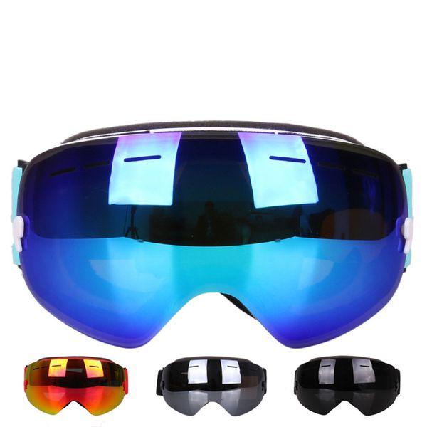 Professional Ski Goggles Eyewear Double Layers Lens Anti-fog UV400 Big Ski Glasses Skiing Mask Snowboard Men Women Snow Goggles