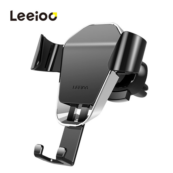 LEEIOO Car Phone Holder for iPhone 8 X 6 Gravity Air Vent Mount Phone Holder Cell Phone Holder Stand for Samsung S9 S8 Xiaomi