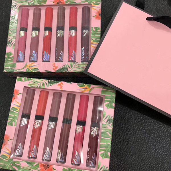 New Secret Velvet Matte lip gloss set box 12pcs lipgloss with paper bag for women DHL Free