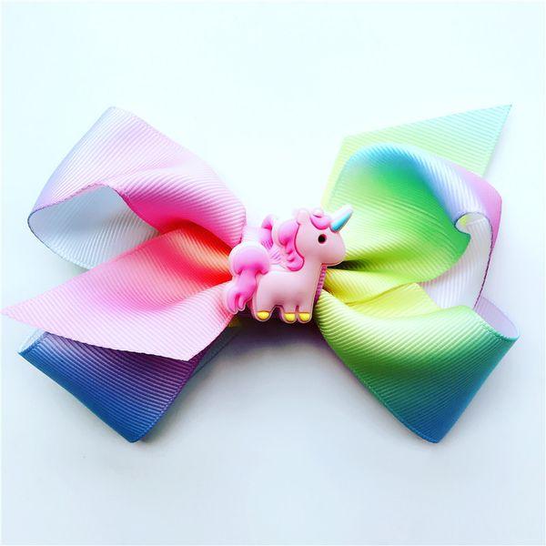 JoJo Siwa Girls Headbow with Unicorn Deco Teens Girls hairbow colorfull JoJo Hearband gifts for kids