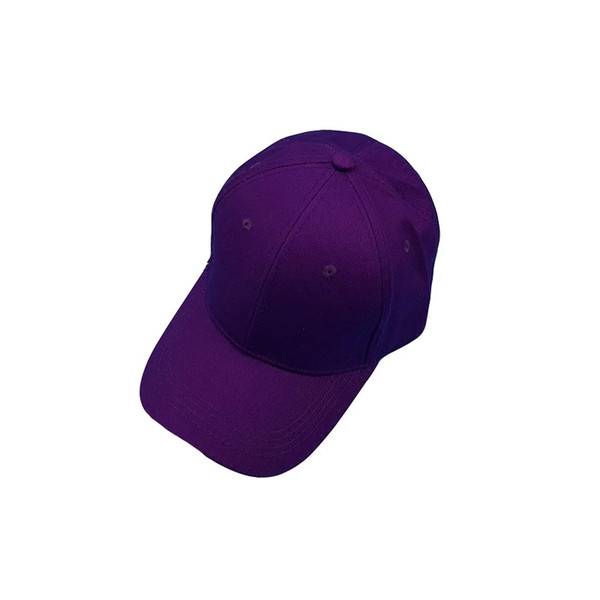 Chic Purple Baseball Caps For Lovers South Korea Ins All-color Summer Shade Hats For Men And Women