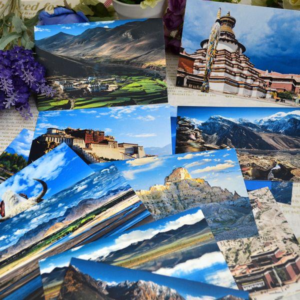16 World travel China Tibet Postcard Book Set / Greeting Card Assorted / Birthday Cards Lot
