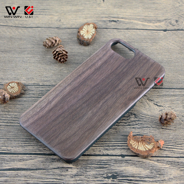 Blank walnut wood sublimation cell phone case for iPhone 6 6s 7 8 6plus 7plus 8plus universal design tpu rubber mobile back cover