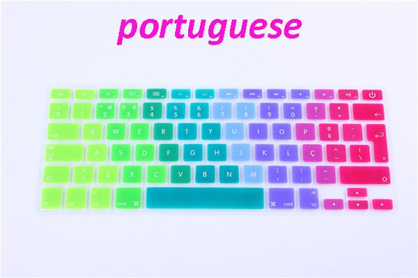 Portugal Portuguese EU / UK Silicone Keyboard Cover Skin Sticker Protection Film For Mac Macbook Air Pro Retina 13 15 17 inch