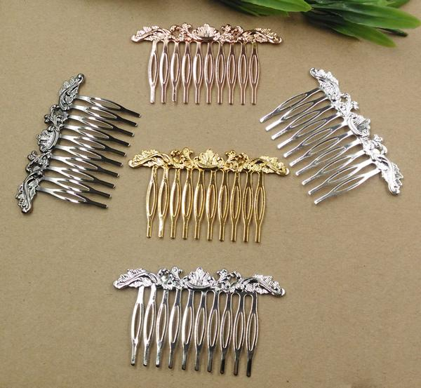 20pc/Lot 10Teeth 6Color Hair Tuck Comb Hair Bobby Pin clip,Antique Bronze/Gold/Silver/Black Hairpin DIY Handmade Vintage Jewelry