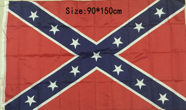 90*150cm flags Two Sides Printed Flag Confederate Rebel Civil War Flags National Polyester Flag 5 X 3FT 300pcs H11b