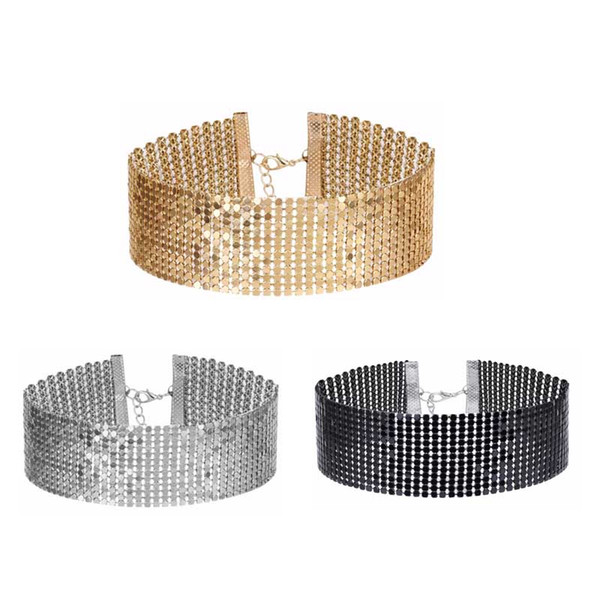 3Pcs/Set New Fashion Popular Coins Collar Choker Necklace For Women Sequined Beads Ladies Jewellry Colares Statement Necklace