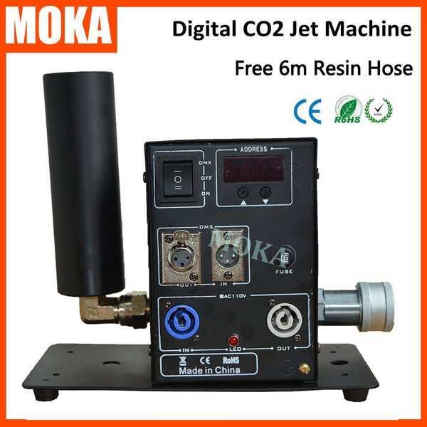 Moka MK-C09 Club Cannon CO2, Cannone a CO2 Stage, CO2 Nebbia Jet CO2 Pistole Cryo Jet Machine Attrezzature professionali per DJ