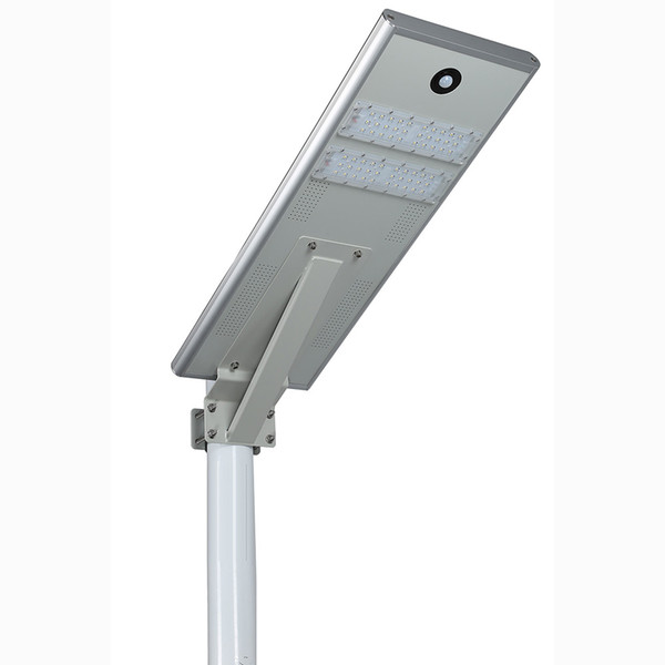 30W Integrado Led Luz de Calle Solar / Luz de Calle PIR Sensor de Movimiento LED Luz de Luz Impermeable Lámpara Exterior Mono Panel Solar
