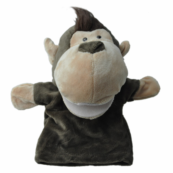 best selling Cute Monkey Plush Velour Animals Hand Puppets Chic Designs Kid Child Learning Aid Toy