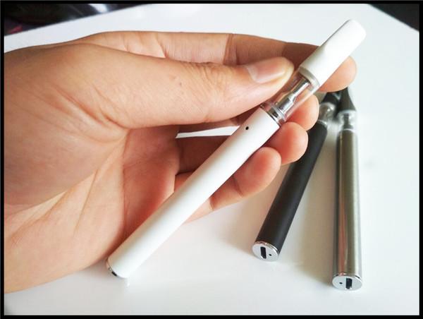 quit smoking electronic cigarette rechargeable disposable vape pen mini 510 ceramic coil glass tank vaporizer mini bud pen e cig
