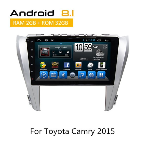 2 Din Touch Screen Stereo For Toyota Camry 2015 Car DVD Player With Bluetooth Auto Radio With AUX Rear Camera