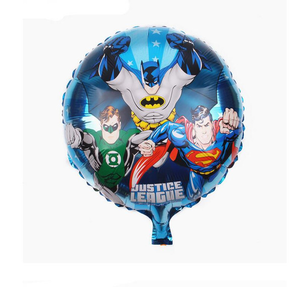 18 inch aluminum foil balloon wholesale round Avengers aluminum film balloon superman hero balloon children's toys