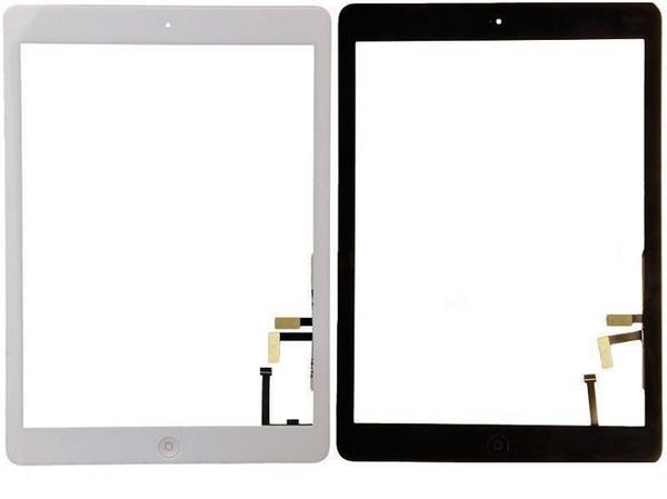 IPad 2 3 4 5 Hava ipad mini 1 2 3 Ana Düğme ve 3 M Yapıştırıcı ile Dokunmatik Ekran Digitizer Meclisi Değiştirme