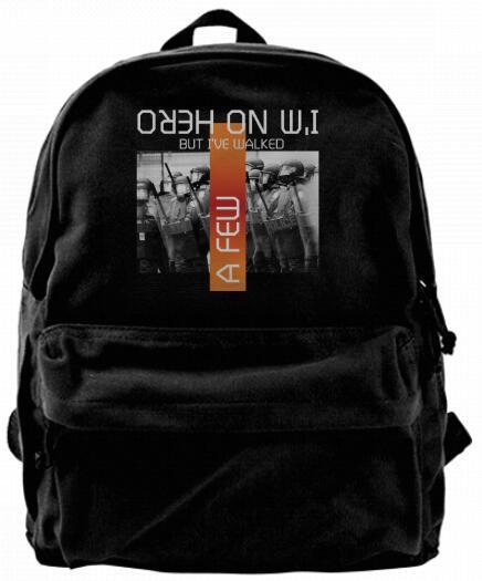 I'm no hero but I've walked beside a few police officer Canvas Shoulder Backpack For Men & Women Teens College Travel Daypack Design handbag