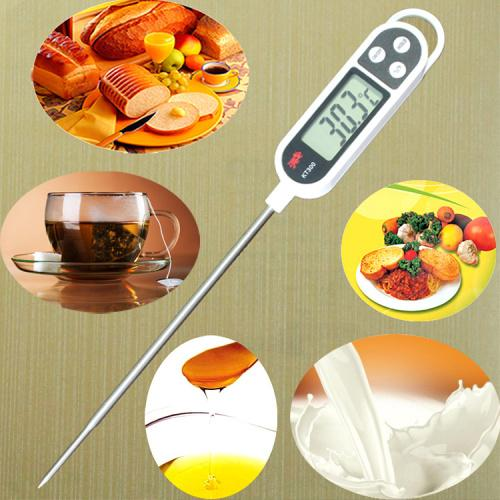 100pcs KT300 LCD Screen Digital Thermometer Temperature Sensor Probe Pen Shape Cooking Meat Kitchen BBQ Milk