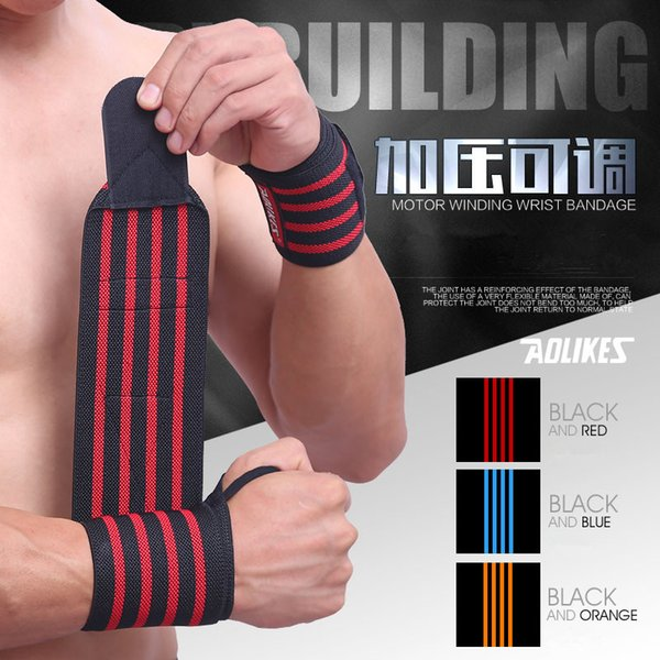 1 Pair Adjustable Sport Wrist Support Fitness Professional Pressure Bandage Wrist Protect Weightlifting Dumbbell Straps