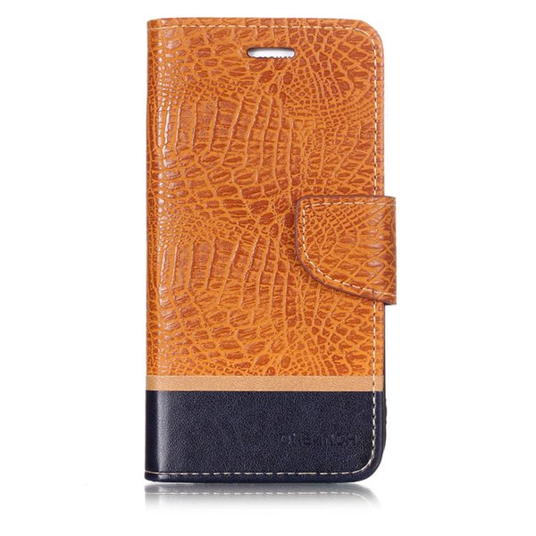 Splice Color wallet Case For Samsung Galaxy S7 Edge Filp Cover Crocodile pattern Leather Mobile Phone Bags Latest fashion