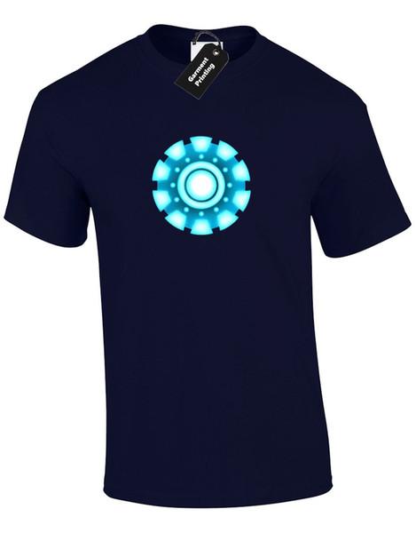 Iron Man Arc Reactor Mens T Shirt Tony Stark Industries Avengers Superhero Mans Uniquefree Shipping
