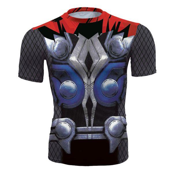 Men's fashion creativity t-shirt superman tights tee superhero classic Thor sport short sleeves cycling fast dry basketball vest