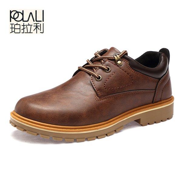 POLALI Männer Schuhe Neue Frühling Herbst Lässige Mode Sicherheit Oxfords Atmungsaktive Flache Schuhe pu-leder Wasserdichte Schuhe Männer size46