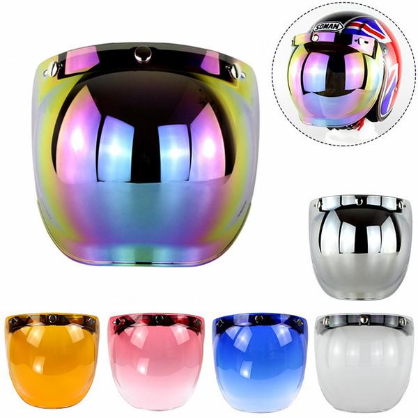 Cuzaekii Motorcycle Open Face Helmet Bubbles Visor Lens Motorbike Windshield Mask Glasses Sunglasses For Harley Helmets